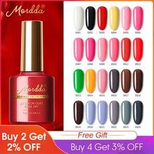 MORDDA esmalte de uñas UV LED remojo de uñas laca para manicura 120 colores de larga duración Gel barniz híbrido para herramientas del arte del clavo