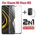 Закаленное стекло для Xiaomi Poco M3, защита экрана, пленка для объектива камеры, защитное стекло на Xiaomi Poco M3, защитное стекло