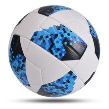 كرات جديدة عالية الجودة لكرة القدم حجم المكتب 4 حجم 5 كرة القدم PU الجلود في الهواء الطلق بطل مباراة الدوري الكرة futbol بولا دي futebol