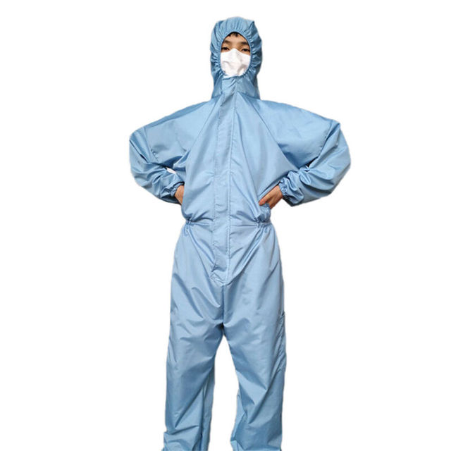 Reusable Anti-Virus Protective Clothing PPE Suit  Coverall Lab Full Body Cover Protection Suit Factory Anti Dust Hazmat Suit