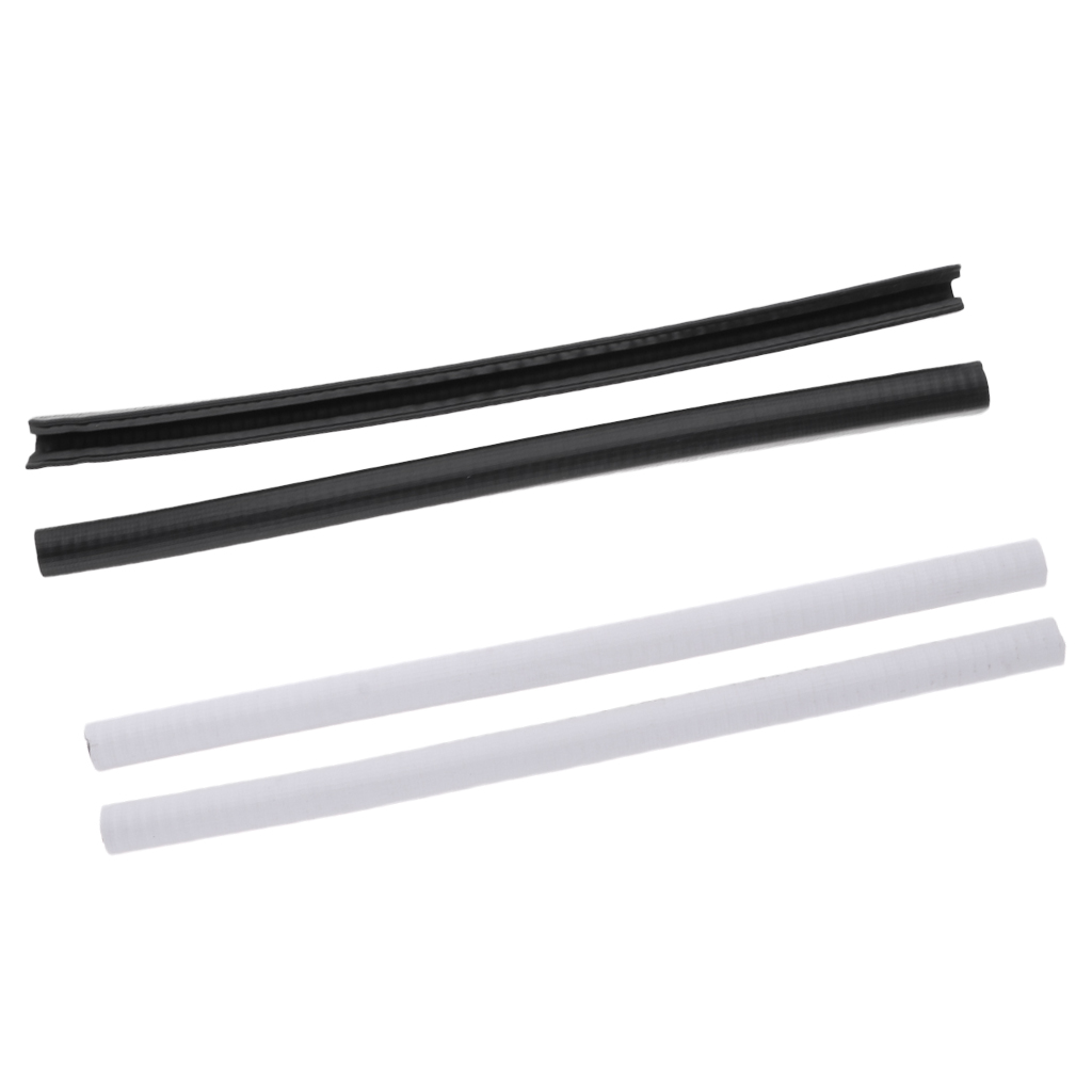 2Pcs Skateboard Longboard Nose Guard Tail Guard Edge Protection Rubber Strip