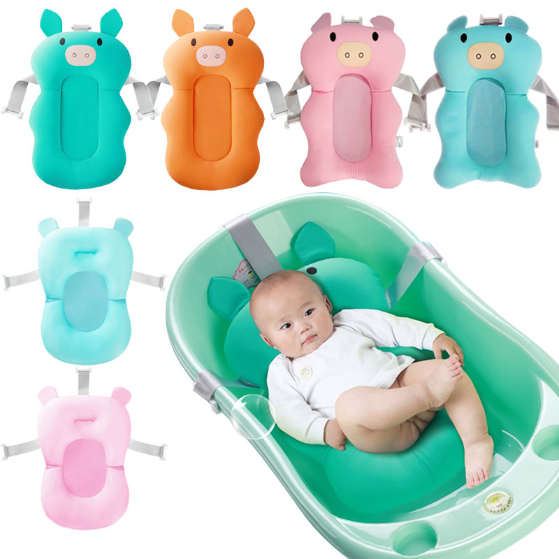 Baby Bath Tub Portable Cotton Baby Bathtub Mat Safety Non-Slip Foldable Newborn Baby Shower Bath Tub Pad Infant Baby Bath tub