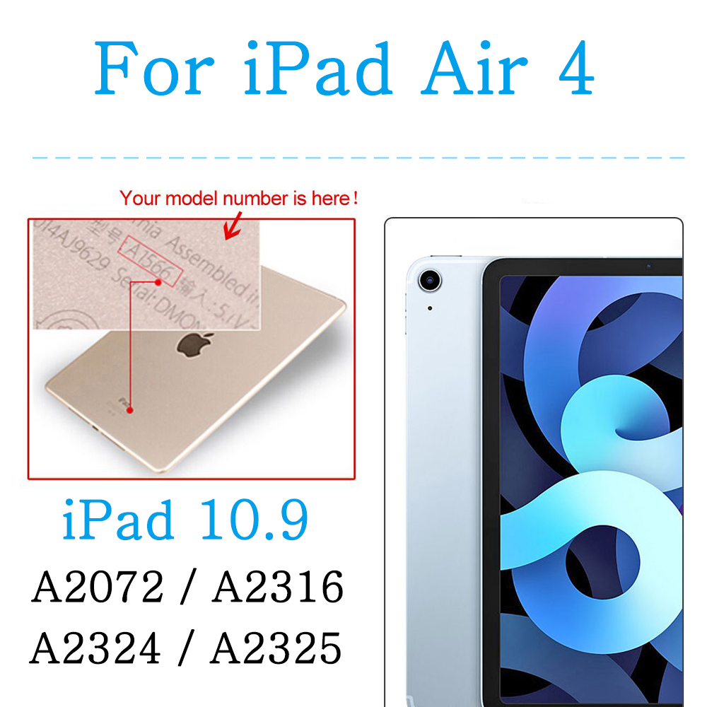 For iPad Air 4 10.9 Red Shockproof soft silicone case for Apple iPad 10 2 7th 8th Generation Air 4 10 9