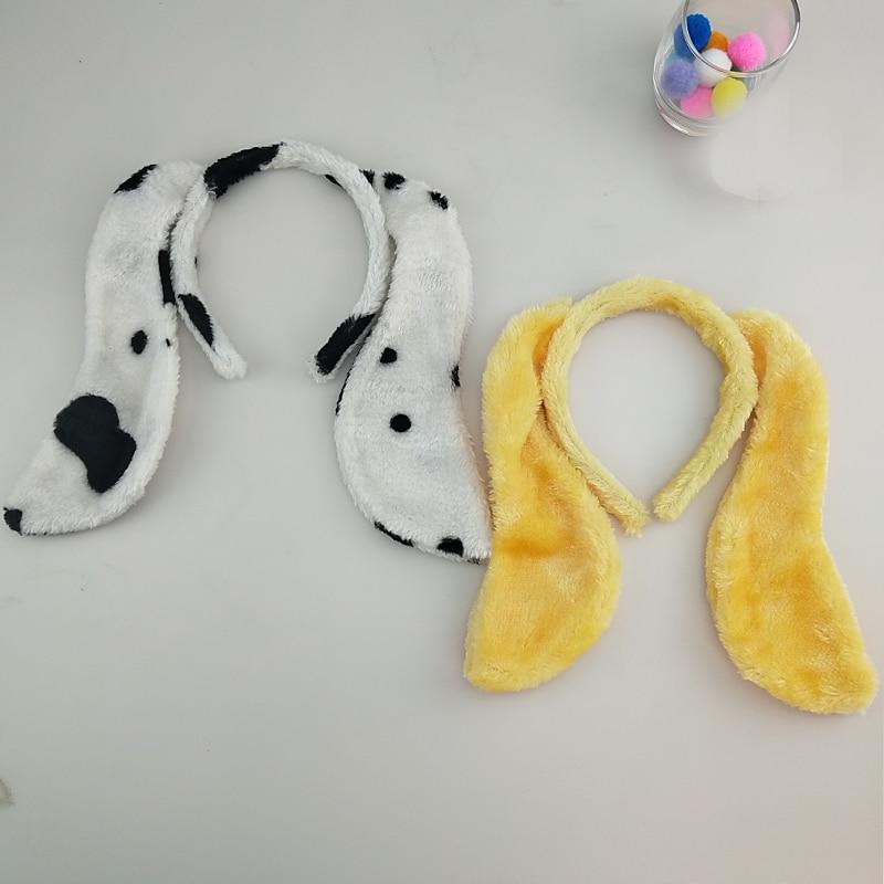 Enfants adulte Animal Dalmantian chien oreille bandeau nœud papillon queue Cosplay cheveux carnaval fête coiffe de tête accessoires Halloween noël