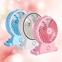 Novo verão umidificador mini ventilador usb recarregável névoa de água com bateria lítio escritório casa mesa redonda pedestal ventilador refrigeração