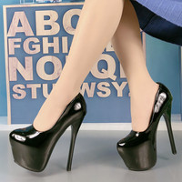 16cm High Heel Thin Heels Round Toe Party Shoes Summer Sexy Shoes Woman High Heel