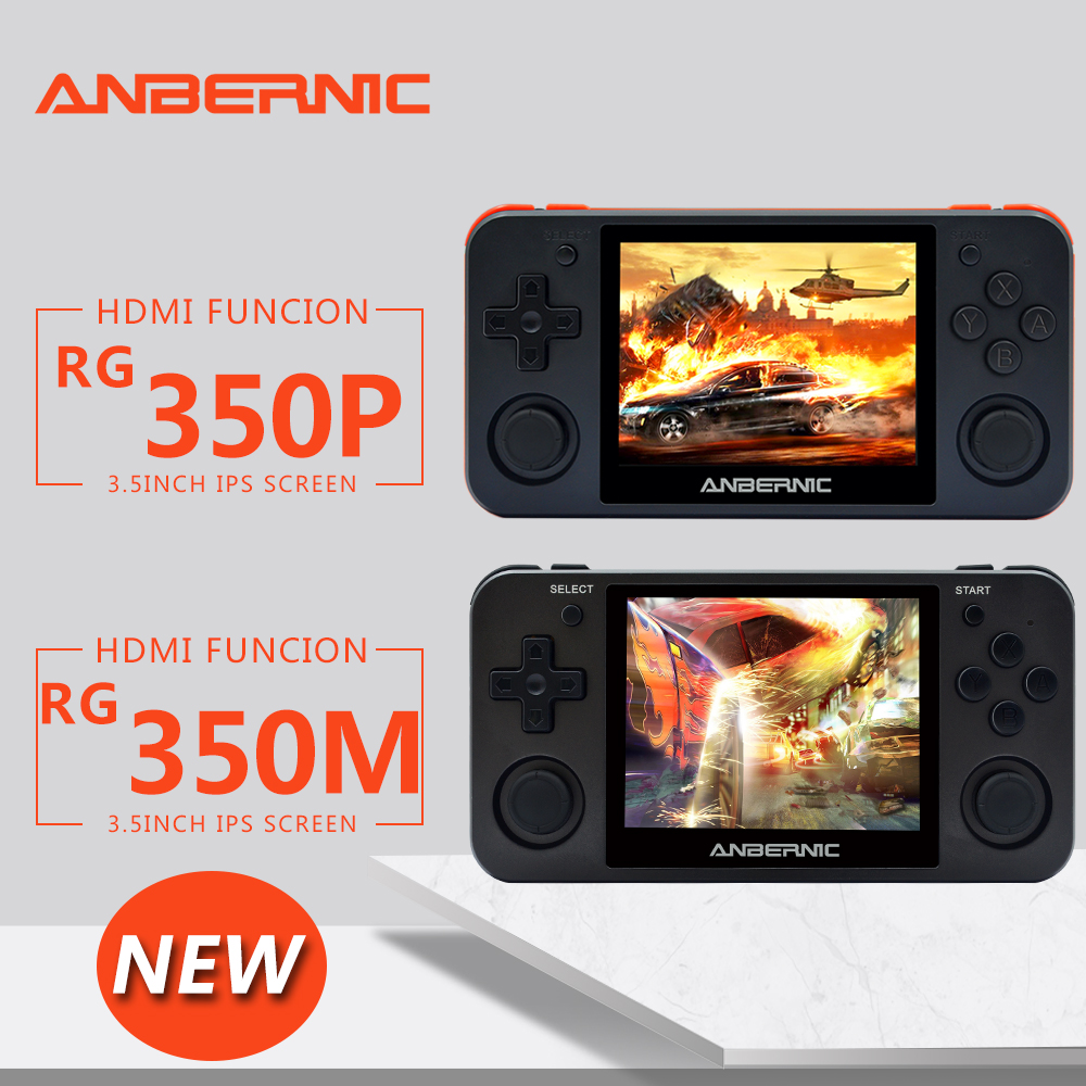 ANBERNIC NEW  RG350P IPS Retro Games 350 Video games Upgrade game console ps1 game 64bit opendingux 2500+ games rg350M HDMI IPS
