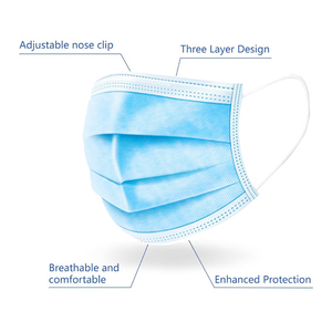 Image 2 - 50pcs/lot Non Woven Disposable Face Respirator Mask 3 Layer Earloop Anti Dust proof Mouth Masks