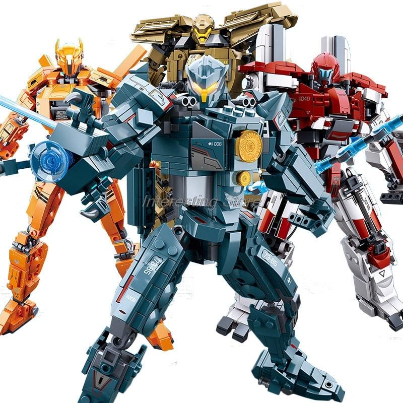 Hot Sale Of Pacific Rim Building Blocks Toys Gipsy Avenger Saber Athena Bracer Phoenix Guardian Bravo Assembly Model