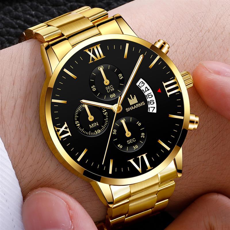 2019 Fashion Mens Watches Male Top Brand Luxury Quartz Watch Stainless Steel Men Casual Sport Wristwatch Clock Relogio Masculino
