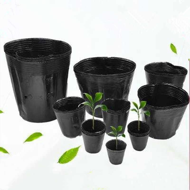 Berçário pote de plástico em berçário potes e plantadores não revestido caixa jardim propagação recipiente crescer saco jardim suprimentos