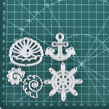 DiyArts Anchor Metal Cutting Dies Marine Life Shell DIY Etched Dies Scrapbooking Craft Dies Paper Card Making Embossing New 2019 diyarts heart shape flower metal cutting dies lovebird diy etched dies craft paper card making scrapbooking embossing new 2019