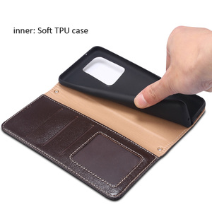 Image 4 - Metal Buckle Button Genuine Real cow Leather Flip Case For Samsung Galaxy S20 Ultra Book Wallet For S20 Plus