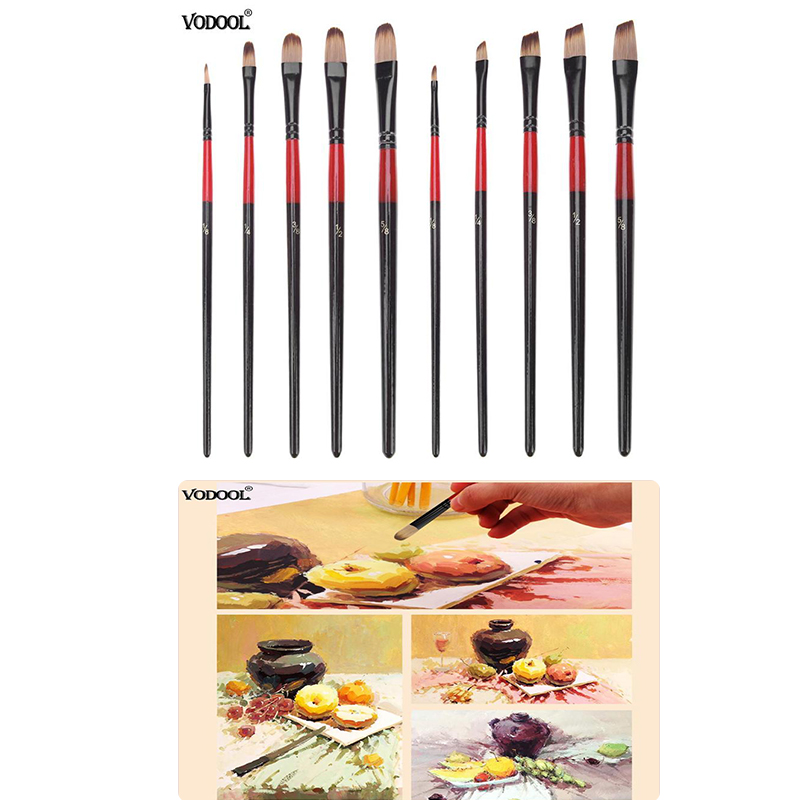 5pcs Nylon Hair Aluminum Tube Paint Brush Set For Oil Acrylic Painting Watercolor Painting Tool Art Drawing Brushes Supplies New