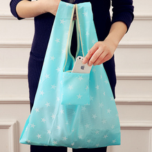 купить Reusable Shopping Bag Tote Bag Women Foldable Bag Fashion Flower Printing Folding Recycle Handbags Home Organization Tote Bags дешево