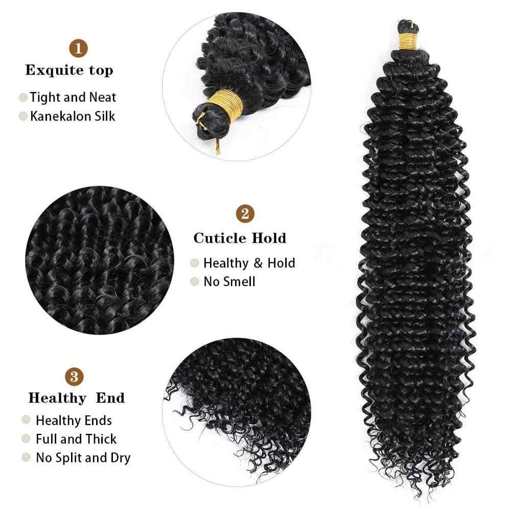 Afro Kinky Krullend Synthetische Gehaakte Vlechten Water Wave Freetress Ombre Twist Vlecht Haarverlenging Voor Zwarte Vrouwen Smart Vlecht Haar