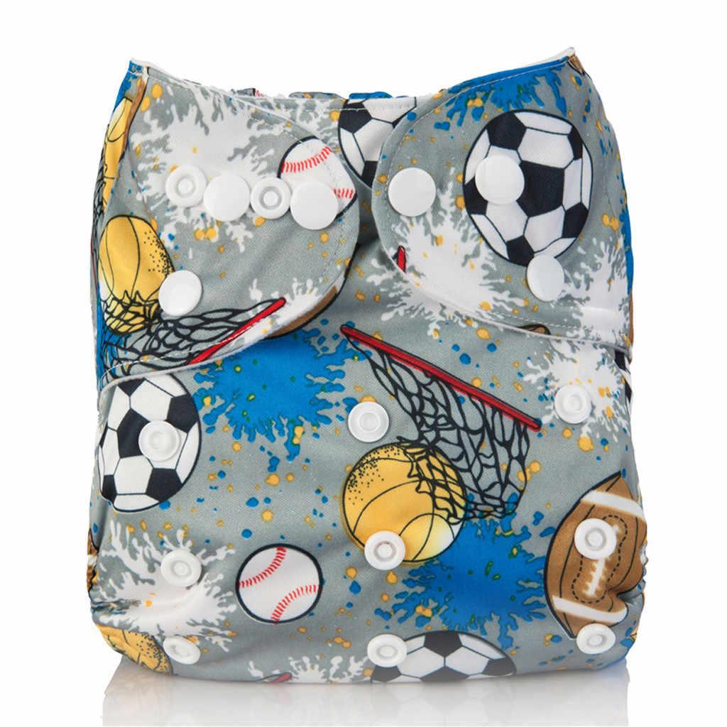 Traje de baño para recién nacido, pañal ajustable para nadar, reutilizable, impermeable, estampado Digital, pañal de tela para bebé, pantalones para piscina, pañales