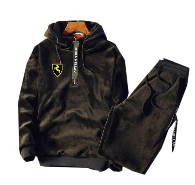 Men Velour Velvet Full Outdoor Gym TrackSuit Sport Sweats Jacket Coat Bottom Top Suit Trousers Pants Track Suit Outfit