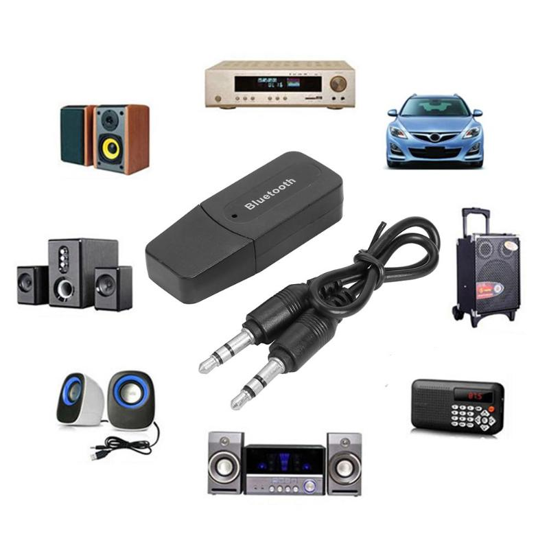 3.5mm AUX USB Wireless Stereo Audio Receiver Car A2DP Bluetooth Dongle Adapter Upgrading Scheme For Lossless Playback