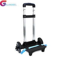 And alloy Pull Rod Bracket Roll Cart Kid Trolley For Backpack Aluminum School Bag Luggage For Children 6 Wheels Expandable Rod