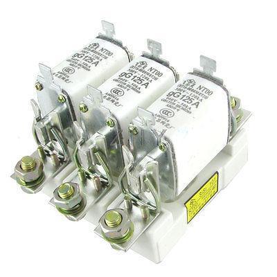 120kA/500V 50kA/660V gG 125A Fusible avec 3 support pour mât Base NT00