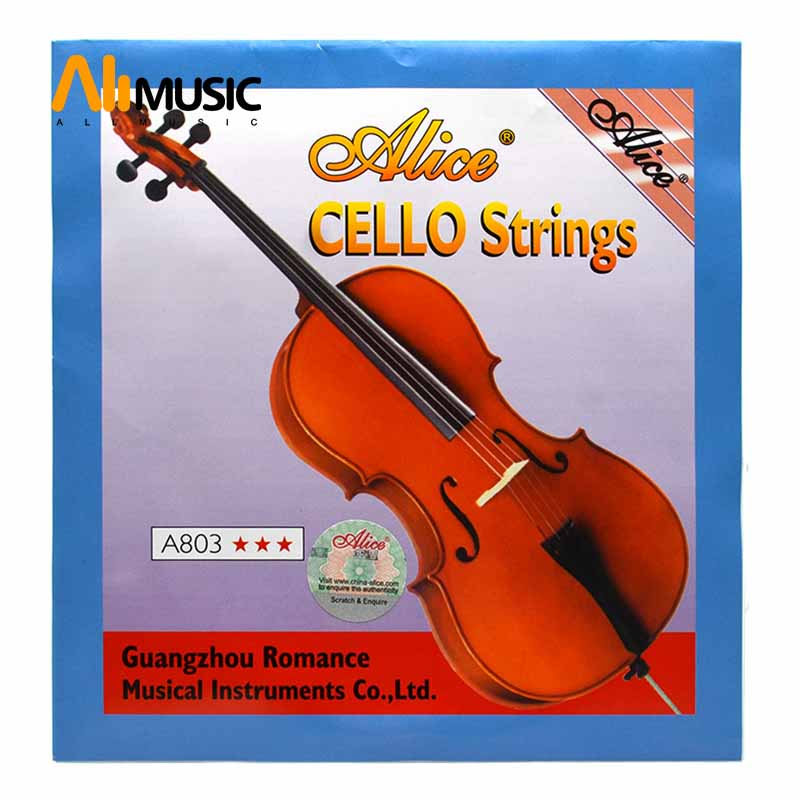Alice A803 Cello Strings Steel Core Nickel Silver Wound 1st-4th Strings