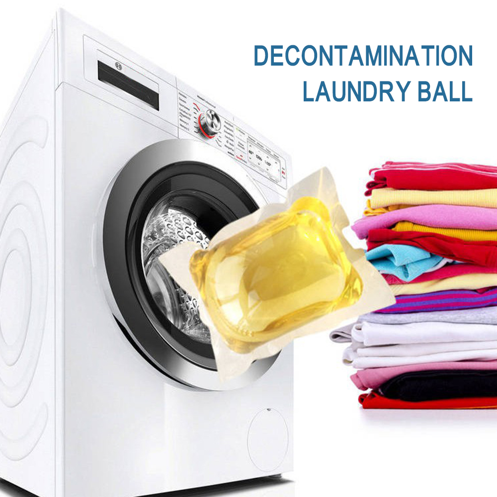 1 Pack=60g Laundry Liquid Detergent Antibacterial Erasing Stains Clothing Washing Beads Laundry Products Liquido Para Lavar Ropa
