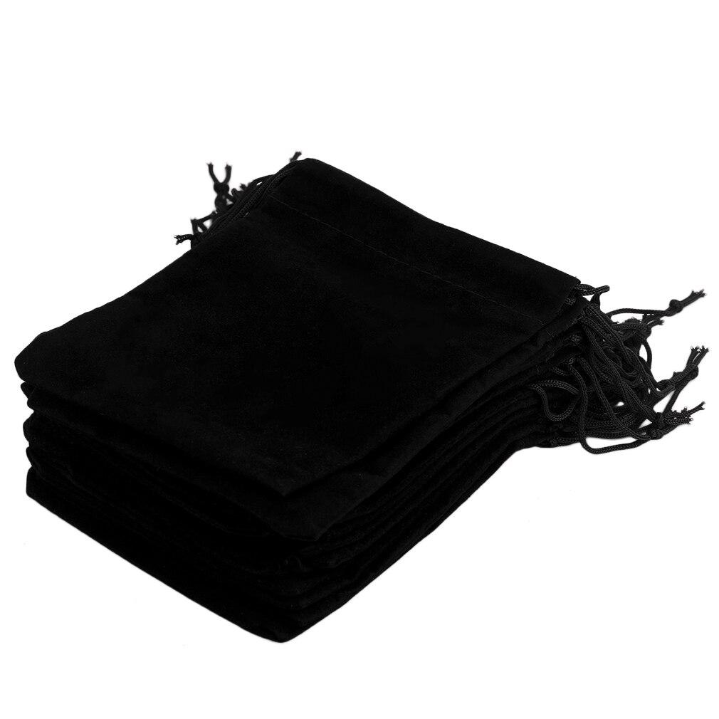 12*10cm 20pcs/Set Beautiful Velvet Gift Jewelry Drawstring Pouch Bag Christmas Wedding Gift Storage Bags Organizer