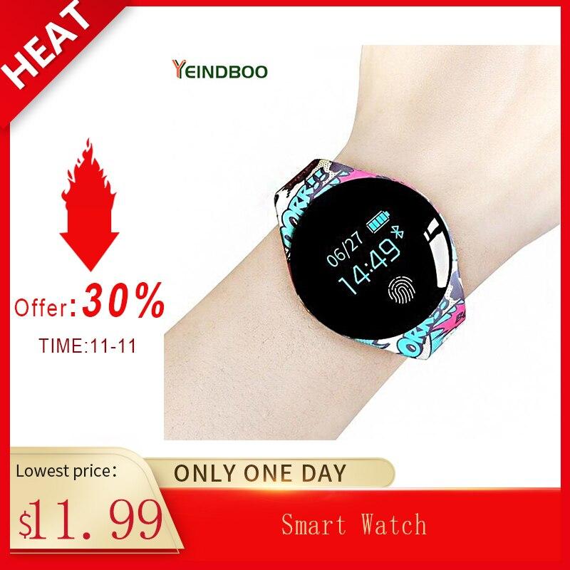 Tela sensível ao toque de cor smartwatch detecção movimento relógio inteligente esporte fitness masculino mulher dispositivos wearable para ios android