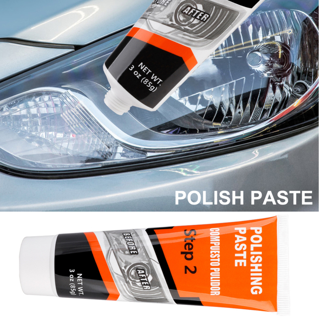 Visbella Headlight Restoration System Repair Kit DIY Headlamp Brightener Car Care Repair kit Lamp Light Clean Polish by manual 3