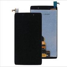 液晶ディスプレイアルカテルワンタッチアイドル3 OT6039 6039 6039A 6039 18k 6039Yタッチスクリーンデジタイザ + ツールアセンブリフレーム送料無料