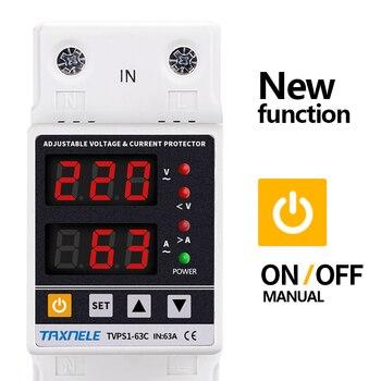 Реле Напряжения Дин с двойным дисплеем, 40 А, 63 А, 230 В|Автоматические выключатели|   | АлиЭкспресс