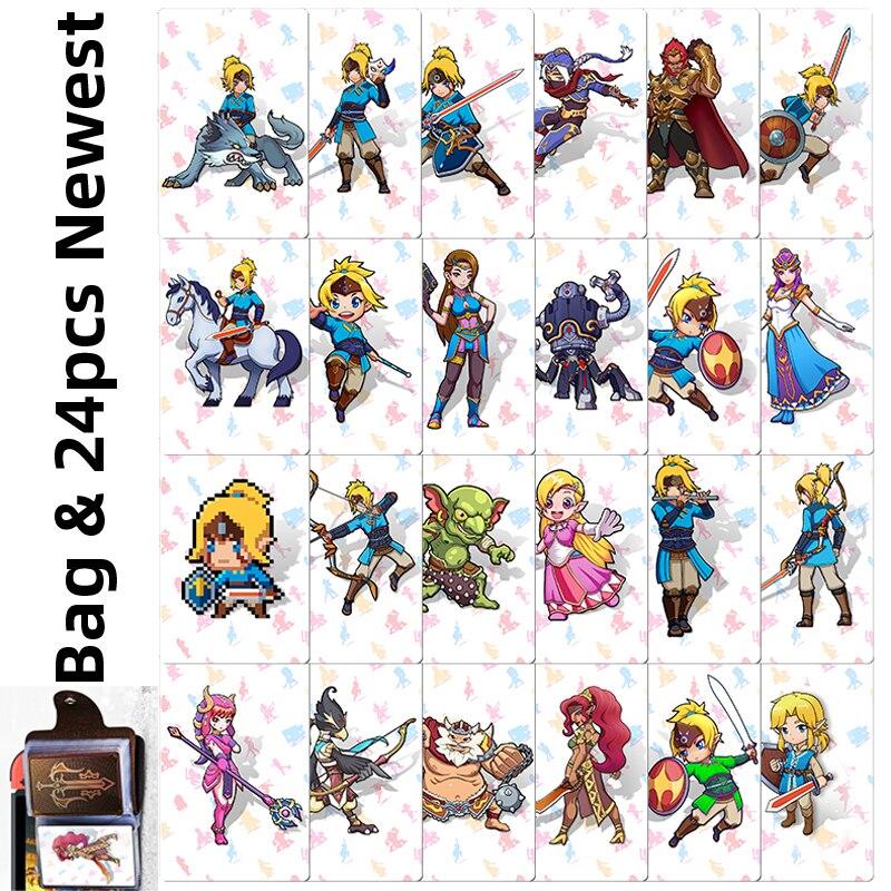 Карта NFC NTAG215 Zelda, 24 шт., 20 сердец, волк, Revali, Mipha Daruk Urbosa, для игры amiibo, переключатель «Легенда о дыхании дикой природы NS»