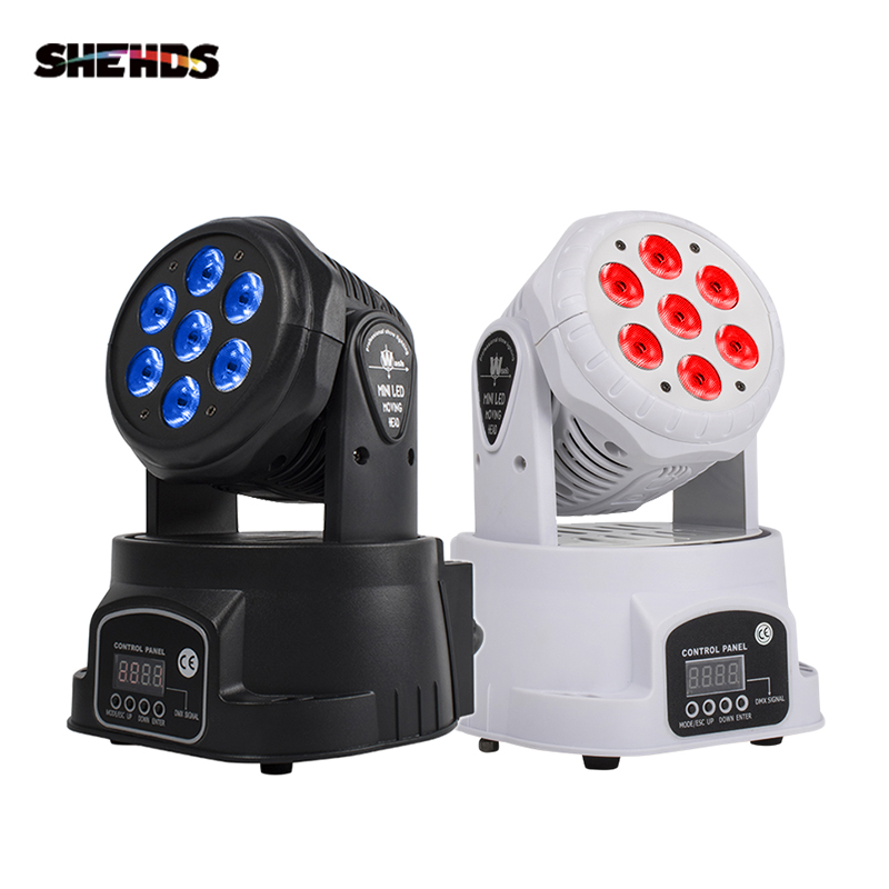 LED 7x12W RGBW Moving Head Stage Lighting Advanced dj lights led wash mini 14 channels  rgbw quad with advanced 14 channels