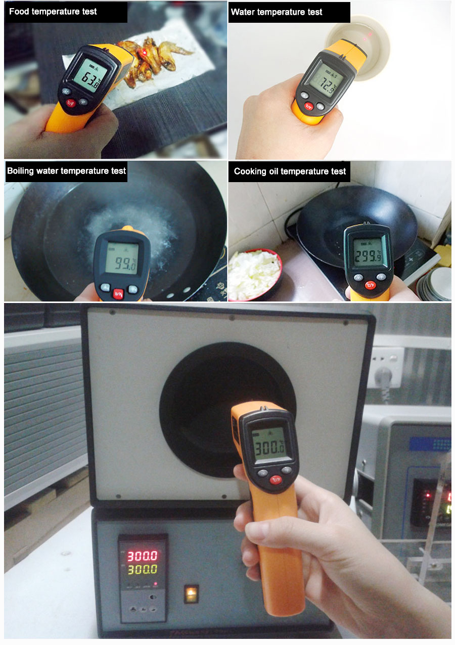 H3eea410aaa9c4955a88fa96b14bc22d2m RZ IR Infrared Thermometer Thermal Imager Handheld Digital Electronic Outdoor Non-Contact Laser Pyrometer Point Gun Thermometer