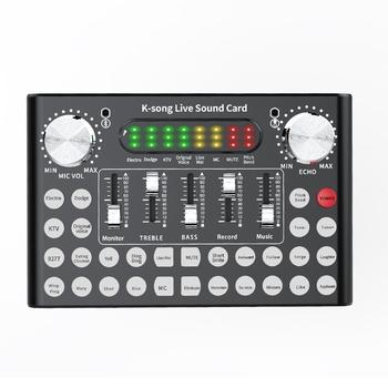 Profesjonalny mikser DJ Live Equipment zestaw mikrofonów z kartą dźwiękową idealny do YouTube wideokonferencji gier zoomu Skype tanie i dobre opinie Wzmacniacz mikrofonowy CN (pochodzenie)