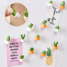 6 stücke Kühlschrank Magnet Nette Sukkulente Magnet Taste Kaktus Kühlschrank Nachricht Aufkleber Magnet Küche Dekoration Zubehör