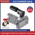 Saramonic SR-M3 мини направленный конденсаторный микрофон со встроенным амортизирующим креплением, переключатели для DSLR-камер и видеокамер