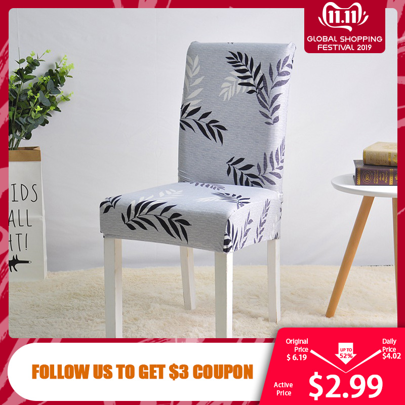 Stretch Spandex Chair Cover For Dining Room Wedding Party Elastic Multifunctional Dining Furniture Covers Home Decor Solid Color