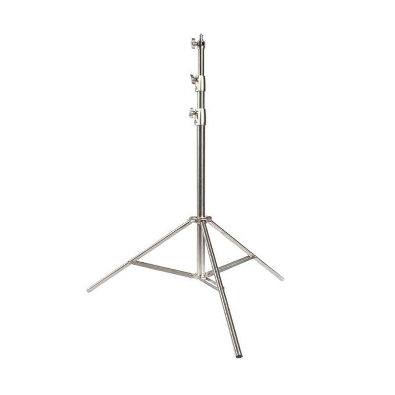Suporte leve de aço inoxidável 102 polegadas/260 cm resistente para o estúdio softbox, monolight e outro equipamento fotográfico