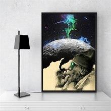 Картина на холсте искусство дым и чудо холст старый человек