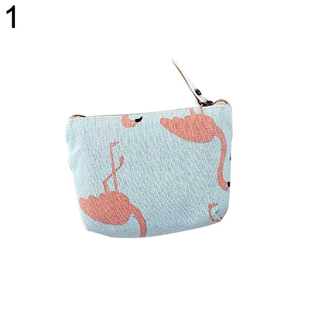 جميل القطن الكتان عملة حقيبة التخزين مفتاح سماعة محفظة المرأة البسيطة محفظة الحقيبة