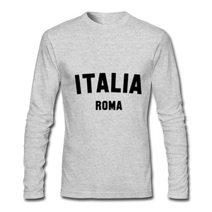 Image 3 - T חולצות גברים ITALIA רומא 2020 חדש הגעה סתיו חורף בגדי יוקרה ארוך שרוול זכר חולצת טי וספה ברצלונה כדורגל חולצה