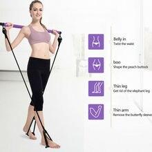 Portable Pilates Bar Stick Fitness Exercise Bar Yoga Gym Stick w/Resistance Band худи print bar drogos gym