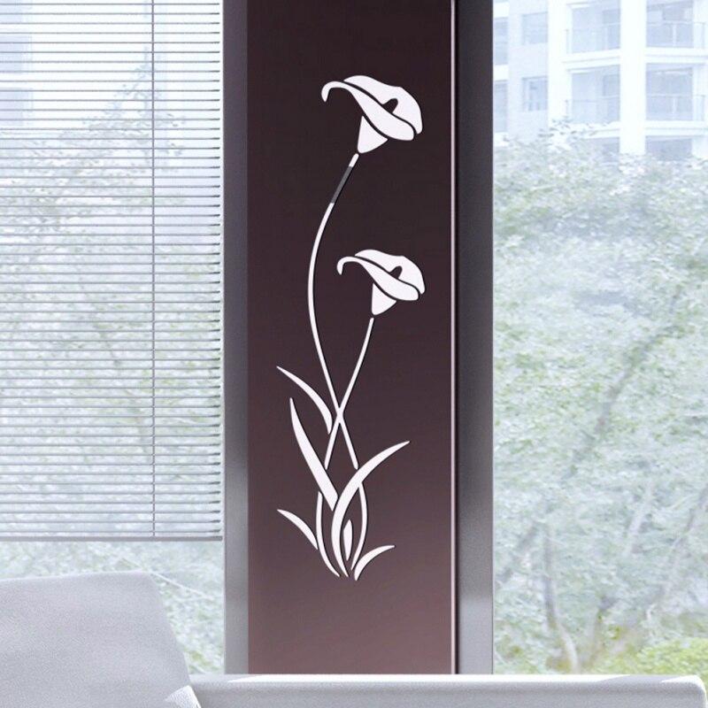 3D DIY Blume Form Acryl Wand Aufkleber Moderne Dekoration Wohnzimmer Abnehmbare Wandbild Tapete Kunst Abziehbilder - 2