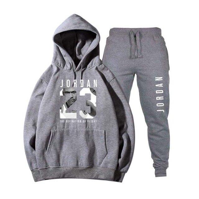 Nouveau 2018 flambant neuf mode JORDAN 23 hommes vêtements de sport imprimer hommes sweats à capuche pull Hip Hop hommes survêtement sweat-shirts vêtements 4