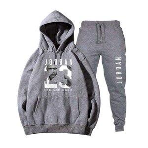 Image 5 - חדש 2018 חדש לגמרי אופנה ירדן 23 גברים ספורט הדפסת גברים נים בסוודרים היפ הופ Mens אימונית חולצות בגדים