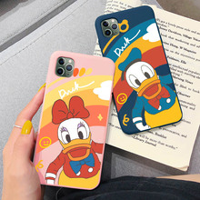 Cute Cartoon Duck Lovers Cases Fashion Funny Phone Case For iphone XS Max X XR 11 Pro Max 6 6s 7 8 plus Back Silcone Soft Capa for iphone 11 pro max cute pink minnie case for iphone 7 6 6s 8 plus xs max xr x silicone soft phone cover cases back capa coque