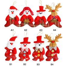 Рождественская елка кулон нетканые подвески для рождественских украшений вешалка Рождественский орнамент для домашнего праздника вечерние подарки для детей