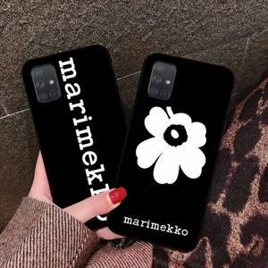 NBDRUICAI Marimekko Pink Flower Shell Phone Case For Samsung Galaxy A01 A11 A31 A81 A10 A20 A30 A40 A50 A70 A80 A71 A91 A51(China)